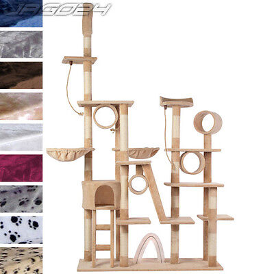 7.5ft Cat Kitten Scratching Post Tree Sisal Climb Excercise Toy Activity Centre