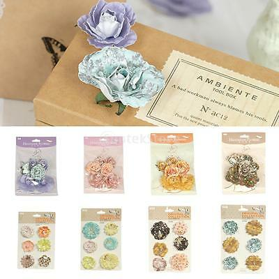 DIY Handmake Craft Flowers Embellishments Gift Box Decors for Wedding Supplies