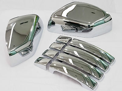 Chrome Door Handle & Mirror Cover for Range Rover Sport Discovery 3 Freelander 2