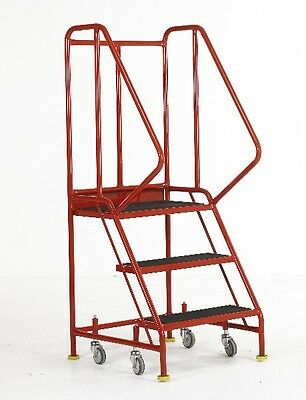 Redhill Three Tread Safety Steps For Warehouse And Workshops