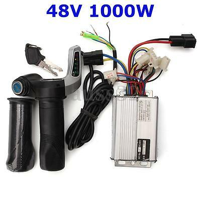 48V 1000W 30A Electric Bike Motor Brushed Controller Speed +Throttle Twist Grips