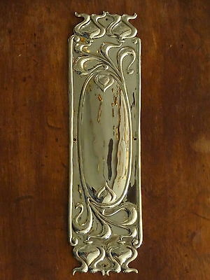 Brass Art Nouveau Finger Door Push Plates Fingerplate