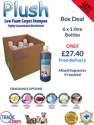 Carpet Shampoo Cleaner- Odour Deodoriser (inc Pet) - 6 x 1L Bottle Pack