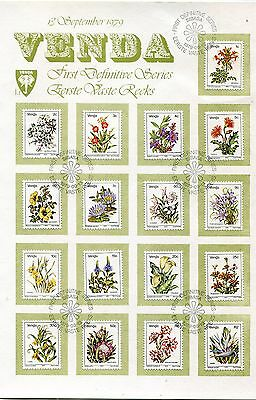 Venda 1979 Flowers set of 17 on card FDC