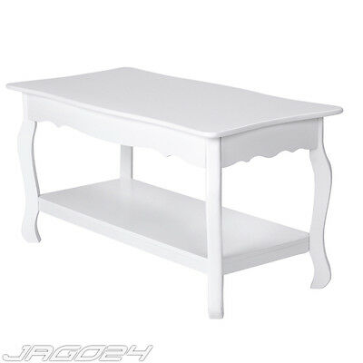 Coffee Side End Table with Undershelf Wooden Rectangle Living Room Furniture