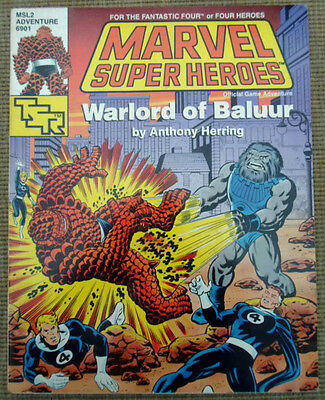 TSR Marvel Super Heroes Role Playing Game RPG Warlord Of Baluur Adventure Module