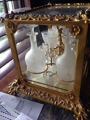 Ultra Rare French Antique Empire 1780-1820 Liquor Cabinet, Museum Quality