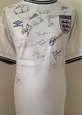 England 1998 Multi Signed Shirt With Letter Of Guarantee