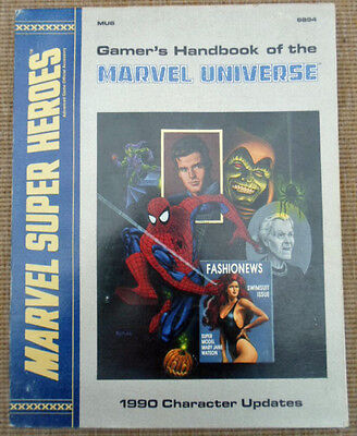 TSR Marvel Super Heroes Role Playing Game RPG Gamer's Handbook Of Universe 1990
