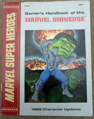 TSR Marvel Super Heroes Role Playing Game RPG Gamer's Handbook Of Universe 1989