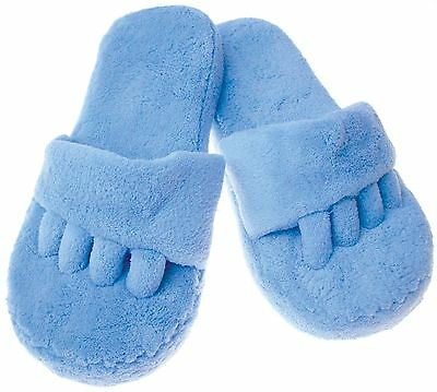 Toe Slippers Memory Foam Insoles Non Slip Fluffy UK Size 4 - 7.5