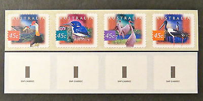 Australian Decimal Stamps: 1997 Wetland Birds - Strip Set of 4 P&S MNH