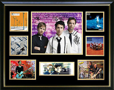 Muse Signed Framed Memorabilia