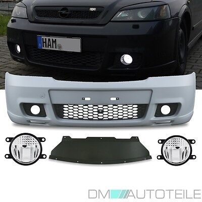 OPEL Vauxhall ASTRA G OPC II Sport Front Bumper +OSRAM LED Fog Lights CERTIFIED