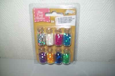 8 Little Bottles With Glitter/1 Bottle Is 2 Cm High (A) New New