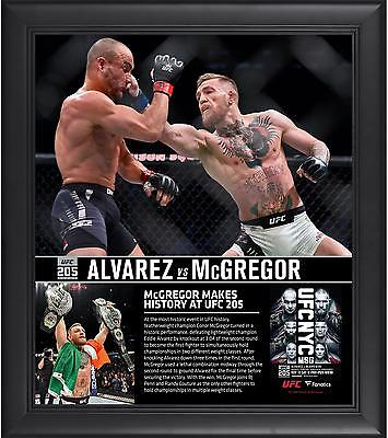 Conor McGregor Framed 15x17 UFC 205 And New Lightweight Champion Collage FA COA