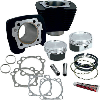 S&S Cycle Black XL 883 to 1200 Conversion Kit for 86-16 Harley Sportster XL 884