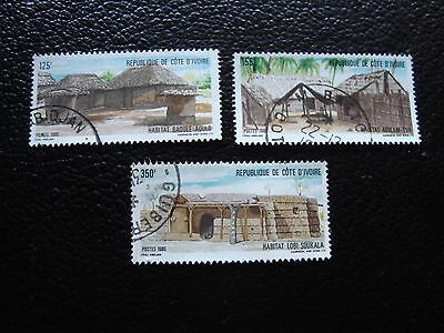 COTE D IVOIRE - timbre yvert/tellier n° 771 772 773 obl (A27) stamp