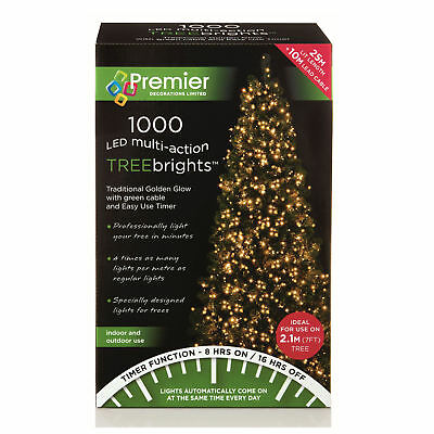 Premier 25M TREEBRIGHT 1000 Multi-Action LED Traditional Golden Glow LV152008TGD