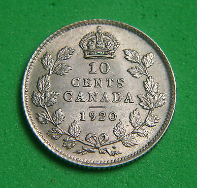 CANADA - Silver 10 Cents 1920