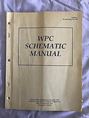 Williams Pinball WPC Schematic Manual 16-9473-1