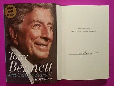 """Tony Bennett Signed First Edition """"just Getting Started"""" Hardcover Book Limited"""