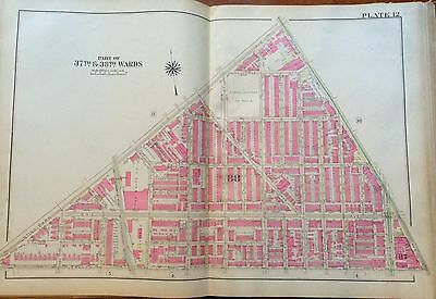 1925 PHILADELPHIA PA HUNTING PARK MCCLURE SCHOOL 5TH ST OLD YORK RD ATLAS MAP
