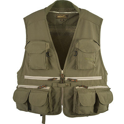 """Snowbee Classic Fly Vest - 11621 -Adult Size XL - Chest 44""""/46"""""""