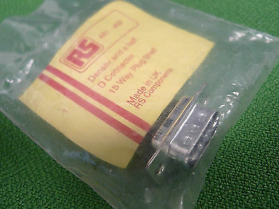 D Connector 15 Way Plug Shell Density and a Half RS 481-459 Lab