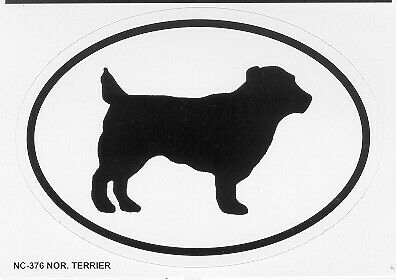 Norfolk Terrier Oval Sticker