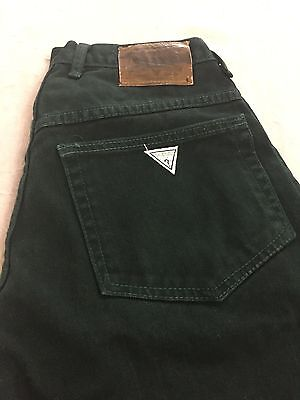 VTG Women's GUESS Hunter Green High Waist 100% Cotton Jean Shorts *VNC* - 32 #44