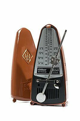 Wittner Taktell Piccolo Keywound Metronome- Dark Brown  #831  New-Free Shipping