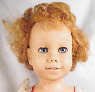 Chatty Cathy Doll Mattel #1 Soft Face Strawberry Blonde Hair Vintage 1960