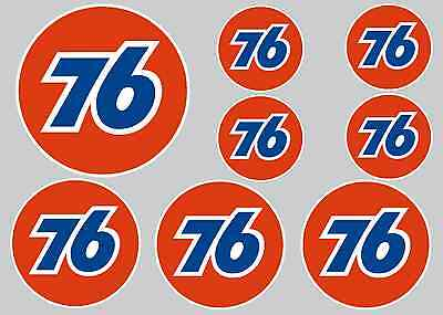 76 Sticker Set - Sheet Of 8 Stickers - Decals