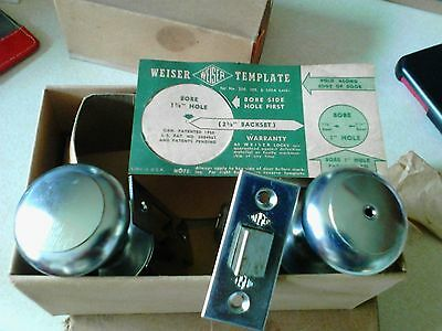 Vintage 1940-50s Weiser chrome locksets new old stock in box