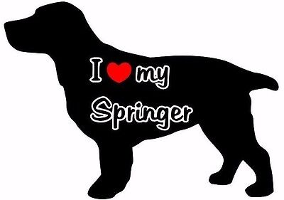 I Love My Springer Car Sticker Looks Fab Must See.