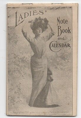 1903 Dr Pierce's Ladies Note Book & Calendar Quack Medicine Advertising
