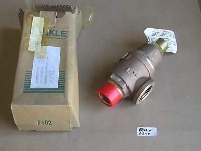 "New In Box Kunkle 1-1/4"" Threaded Relief Valve 20-F01-Mg  100 Psig  Brass"