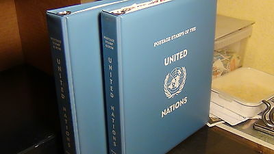 UN stamp selection in 2 vol. padded albums