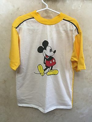VINTAGE 1980s MICKEY MOUSE WALT DISNEY PRODUCTIONS T-SHIRT - Youth L #103