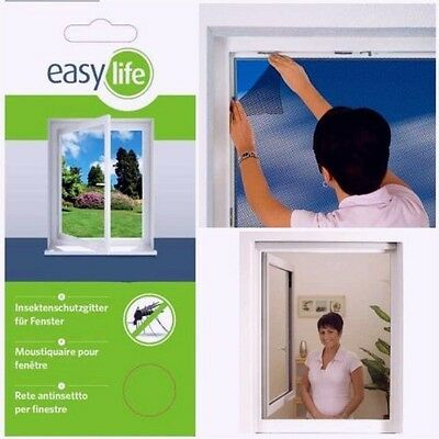 Easy Life Window Insect/Fly Screen 300x 150cm Insect, Can be Shortened