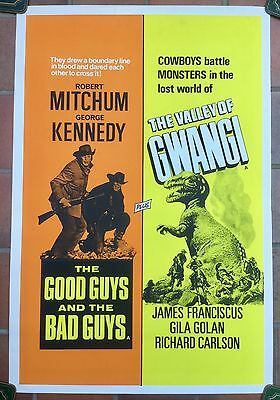 """The Valley Of Gwangi UK Double Crown 20"""" x 30""""  film poster  * rare *"""