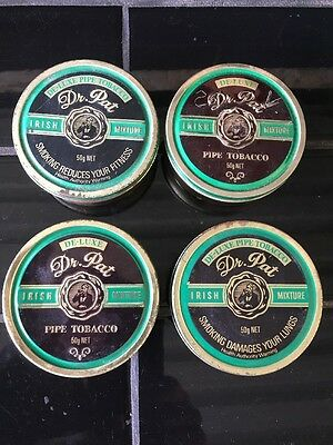 Lot of 4 Vintage Dr. Pat Pipe Tobacco Tins