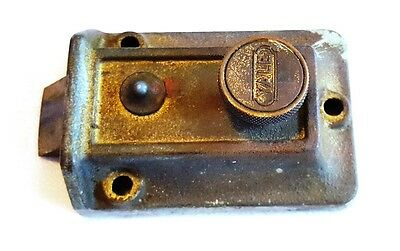 "Vintage 3.5"" Old Style Door Lock Part Yale"