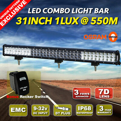 28inch 660W Philips LED Light Bar Spot Flood Combo Offroad Work Driving 4WD