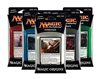 Magic the gathering MTG M16 ORIGINS INTRO PACK SET OF 5 DECKS SEALED IN HAND!!