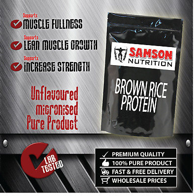 BROWN RICE PROTEIN POWDER 1kg  UNFLAVOURED ALTERNATIVE TO WHEY PROTEIN WPI WPC