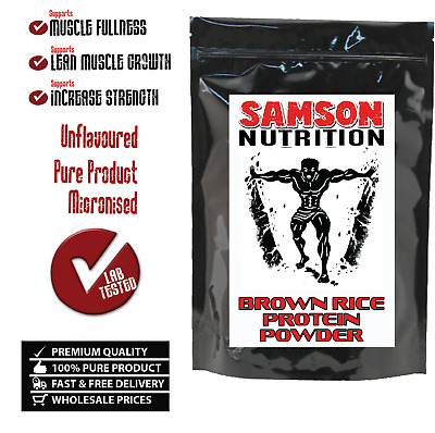 1kg BROWN RICE PROTEIN POWDER UNFLAVOURED ALTERNATIVE TO WHEY PROTEIN WPI WPC