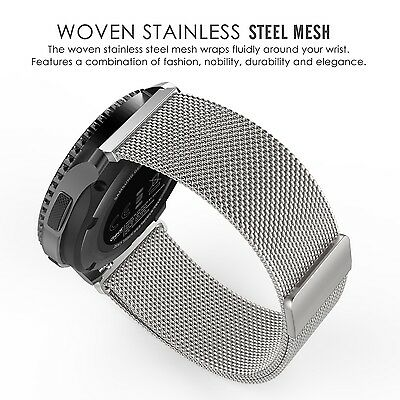 SILVER STEEL MESH Wristband Band Bracelet Strap Accessories For SAMSUNG GEAR S3