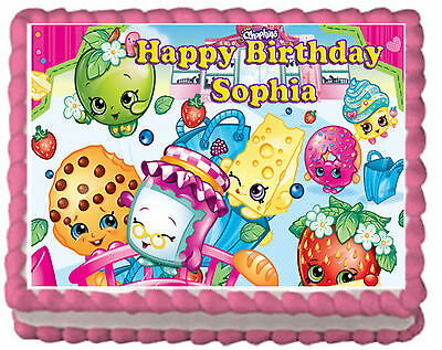 Shopkins Girls Party Premium Edible Frosting Cake Topper